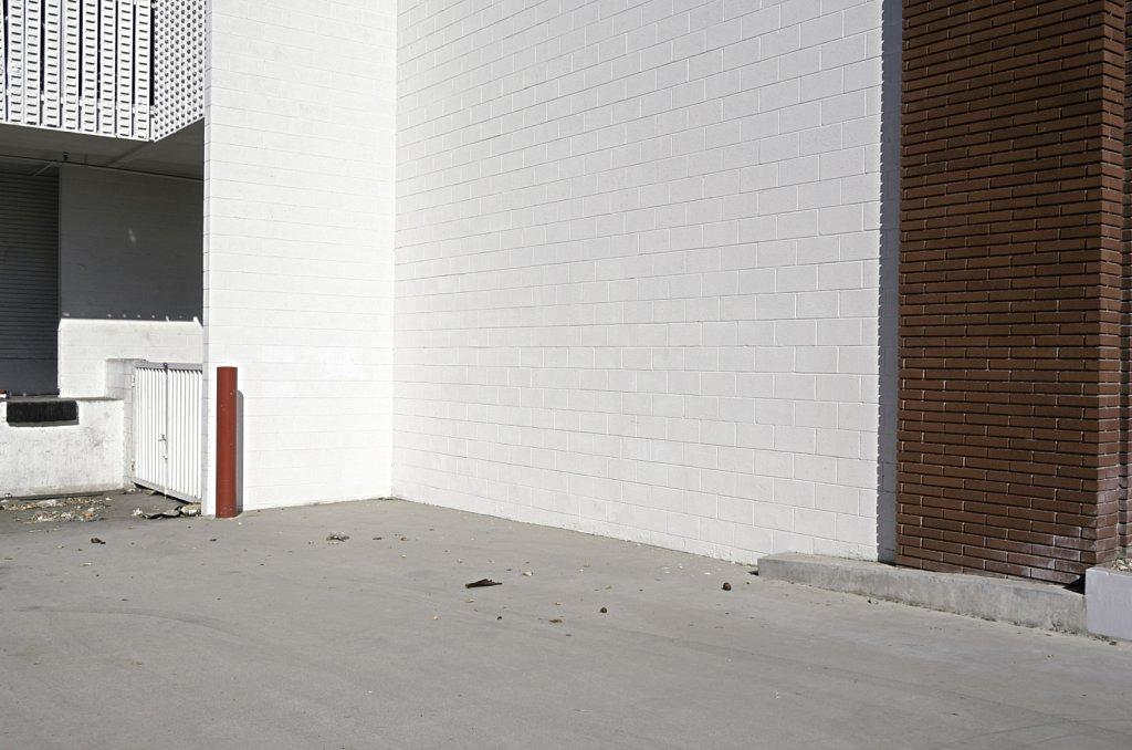 White CMU Wall