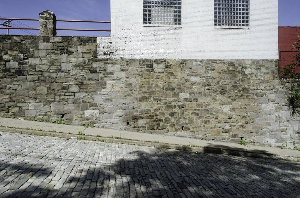 Stone Wall Cobbeld Street