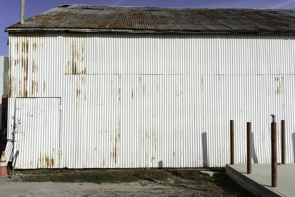 White Corrugated Siding