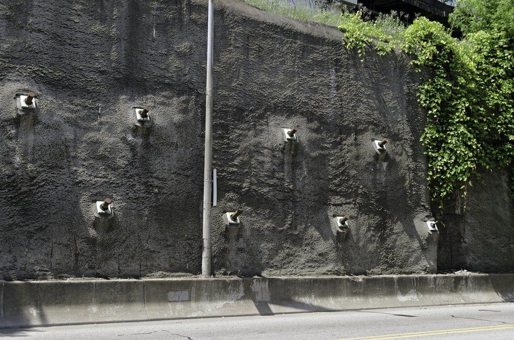 Highway Retaining Wall